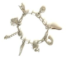 "Lucky charms bracelet made with Swarovski Crystal 7"" 4 leaf clover ladybug etc"