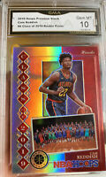 2019 NBA Hoops Premium Stock Prizm Silver Rookie Cam Reddish Hawks Gem mint 10