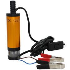 12VDC Portable Submersible Pump 12L/min Water Oil Diesel Fuel Transfer Ref Pumps