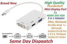 Mini Display Port to HDMI VGA DVI Adapter 3 in 1 for Macbook iMac Macbook Air,