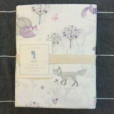 New Pottery barn Kids Bailey fox Twin Sheet Set lavender gray  white
