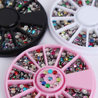 Metal Studs 3mm Round 3D Nail Art Decoration Colorful Manicure Decor Tips DIY