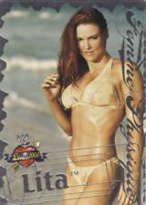 LITA 2004 Fleer WWE DIVAS 2005 FEMME PHYSIQUE Insert Card  # 1FP
