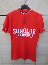 Maillot cycliste SONOLOR LEJEUNE vintage années 70 trikot shirt jersey S / M