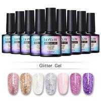 LILYCUTE Glitter Sequins Nail Gel Polish Sparkly Soak Off UV LED Gel Varnish DIY