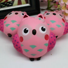 Pink Owl Jumbo Slow Rising Squishes Scented Squishy Squeeze Toy Stress Reliever