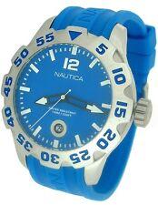 Nautica BDF 100 Rotating Bezel Blue Dial Blue Resin Band Men' Watch N14602G New