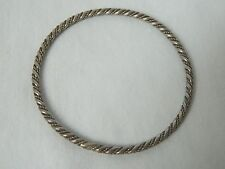 Egyptian Sterling Silver Double Rope Bracelet 8.75""