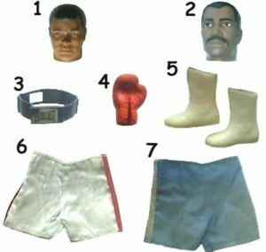 "1976 MUHAMMAD ALI KEN NORTON 10"" mego BOXING figure -- Body Head Boots Gloves"