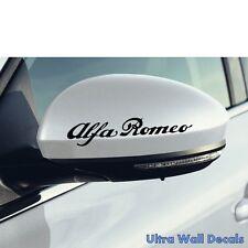 2 x ALFA ROMEO Aufkleber für rückspiegel Sticker Auto Spider Giulia Giulietta