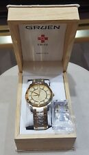 Gruen Diamond Dial Swiss Two Tone Watch Complete w/ ALL links & Original Box