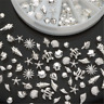 120 PCS Lot 3D Metal Nail Art Decoration Ocean Accessories Silver Shell Conch