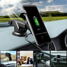 Qi Fast Wireless Car Charger Mount Holder For Samsung S8 Note 8 iPhone 8 / X HTC