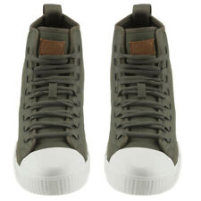 G-STAR RAW Kicks Men Sneakers Leather Canvas Army Green High Ankle Trainer Sz 10