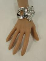 Women Silver Metal Cuff Bracelet Fashion Jewelry Rodeo Horse Shoe Bling Rodeo