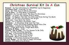 JEMSIDEAS Christmas Survival Kit In A Can. Novelty Neighbour Xmas Gift & Card