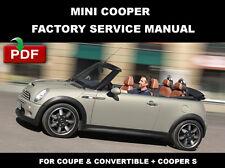 MINI COOPER S 2007 - 2008 FACTORY SERVICE REPAIR MAINTENANCE FSM MANUAL