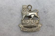 "Original Pre WW2 Royal Canadian Army ''6th Hussars"" Metal Collar Dog w/Pin"