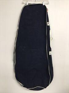 Golf Cart Bag Blue Travel Golf Club Carrier Luggage Zip Up Ideal Zipper