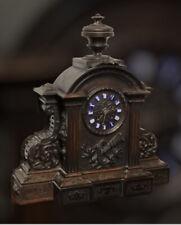 More details for victorian black forest clock. superb carved case.