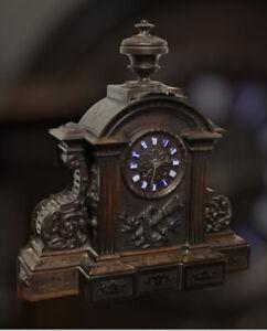 Victorian Black Forest Clock. Superb Carved Case.