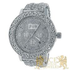 18k Premium Khronos Custom Watch Real Diamonds White Gold Finish Ice House Watch