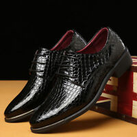 Men's Oxfords Leather Shoes Business Formal Dress Casual Point Toe New