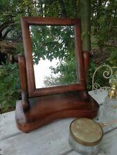 Antique Victorian Mahogany Dressing Table Swing Mirror Bun Feet Turned Handles