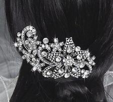 Rhinestone Headpiece Crystal Bridal Dress Accessories Sliver Wedding Hair Comb