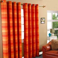 Morocco Cotton Ribbed Striped Curtains Ready Made - 9 Colours Available