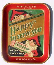 "Vintage 1930'S ""WRIGLEY'S SPEARMINT GUM"" SERVING DRUGSTORE LUNCHEONETTE TRAY"