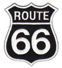au80 ROUTE 66 Aufnäher Bügelbild Patch Motorrad Applikation Biker USA 6,9 x 8 cm