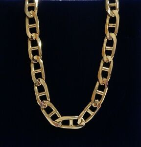 Gents Anchor Link Chain SOLID 375 (9ct) Yellow Gold - Length 20in (51cm) - 36.2g