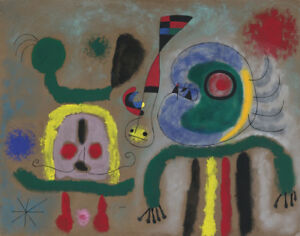 Miro Joan The Golden Bird Sparking The Poets Thought Canvas Print 16 x 20  #2569