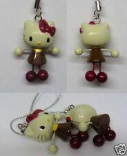 Hello Kitty Dangling Hand Leg CellPhone Charm Strap Chocolate