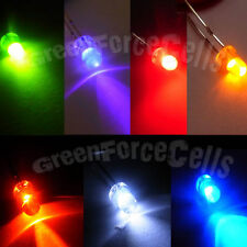 100 pcs 3mm 2 Pins 7 Color LED Light Emitting Diode Lamp Bright 20000 Mcd