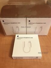 Genuine Apple Lightning to 3.5mm Headphone Jack Adapter iPhone 7 & 7+ Plus BOXED
