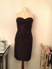 New Banana Republic Women Monogram Strapless Silk Dress SZ 4