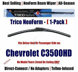 Super Premium NeoForm Wiper Blade (Qty 1) fits 2001-02 Chevrolet C3500HD 16220