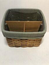 Longaberger 2004 Desktop Basket Set with Dividers And Liner