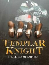 COO Models Empire Series Templar Knight Armored Hands x 4 loose 1/6th scale