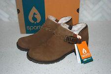 NIB Sporto Women's ankle boots tan suede faux fur size 7.5