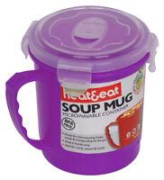 Chaleur & Manger Micro-Ondes Soupe Tasse,Violet Lunch Accessoires Travail Voyage