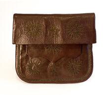 Vintage Moroccan Traditional Leather Messenger Bag Boho