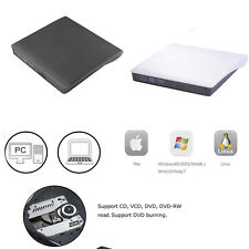 USB 3.0 Slim External DVD±CD RW±ROM Read Writer Burner Drive Play For Laptops PC