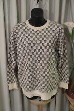 VINTAGE 80'S  ~ BISCOTE~ Squares Cotton Blend JUMPER/TOP * Size M * UNISEX *