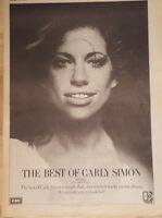 Carly Simon best of  1975 press advert Full page 28 x 39 cm poster