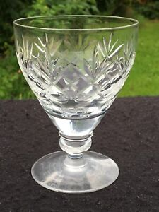 "Royal DOULTON Crystal GEORGIAN Wide Water Goblet / Wine Glass  4 1/2"" high"