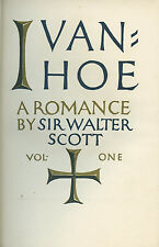 Ivanhoe by Sir Walter Scott - 2 vol. Limited Number Set 1020/1500 VG+. 1940