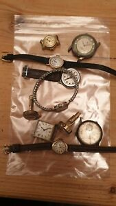 Job lot of ten watches for spares and repairs includes Verity Sekonda Fero ..1